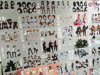Kill la Kill Character Design Board Wall Full