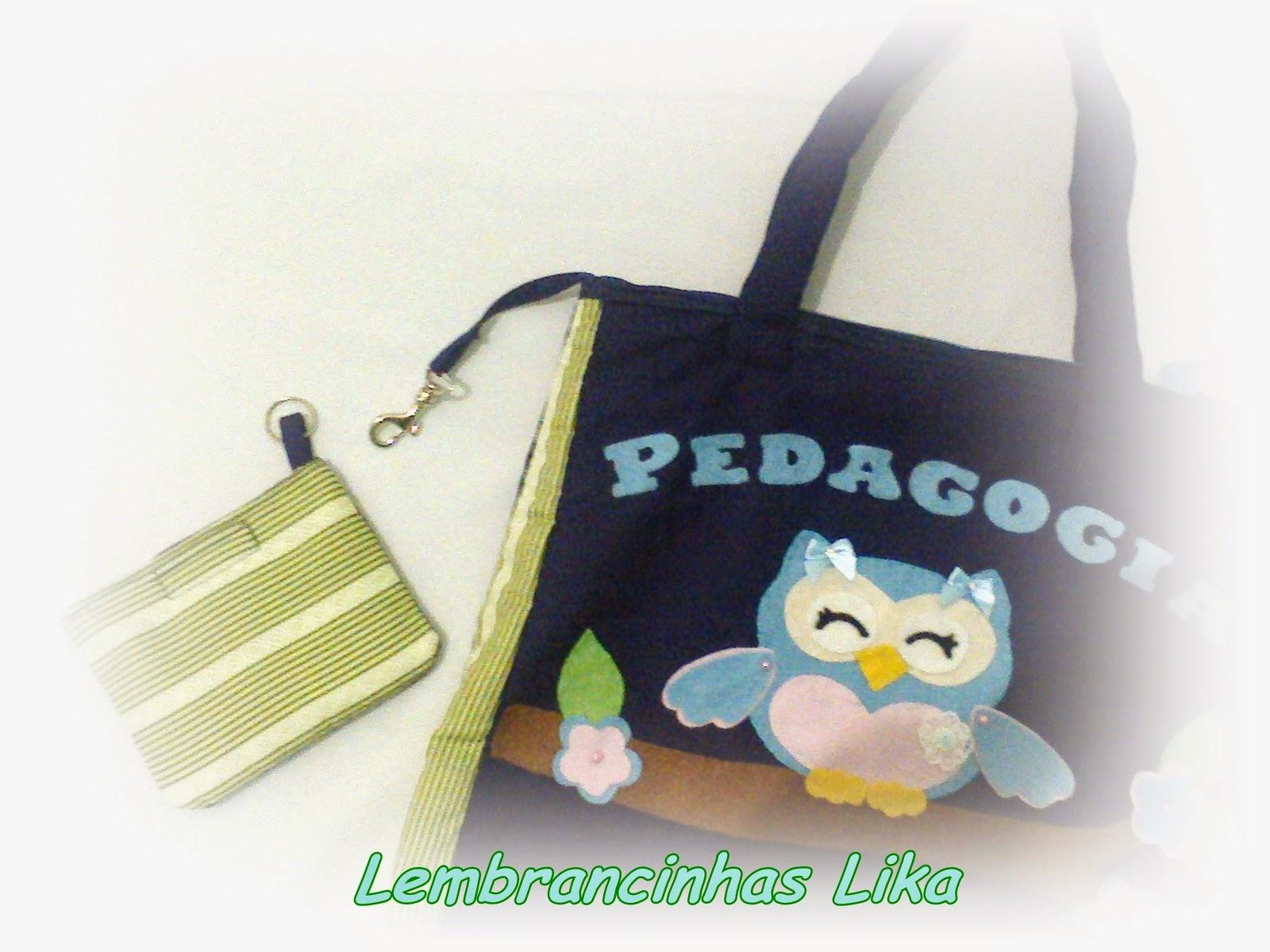 Bolsa De Tecido Pedagogia : Lika eventos bolsa de tecido corujinha