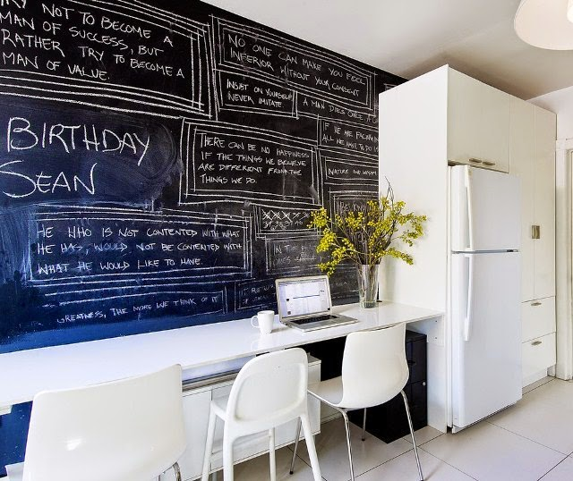 ideas kitchen chalk paint wall