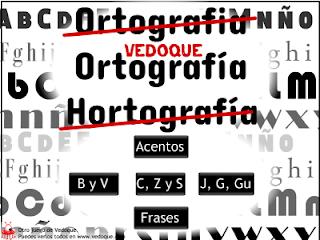 Juegos de Ortografía (vedoque .com)