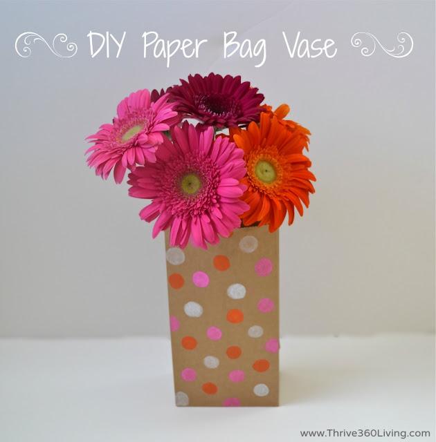 DIY paper bag vase
