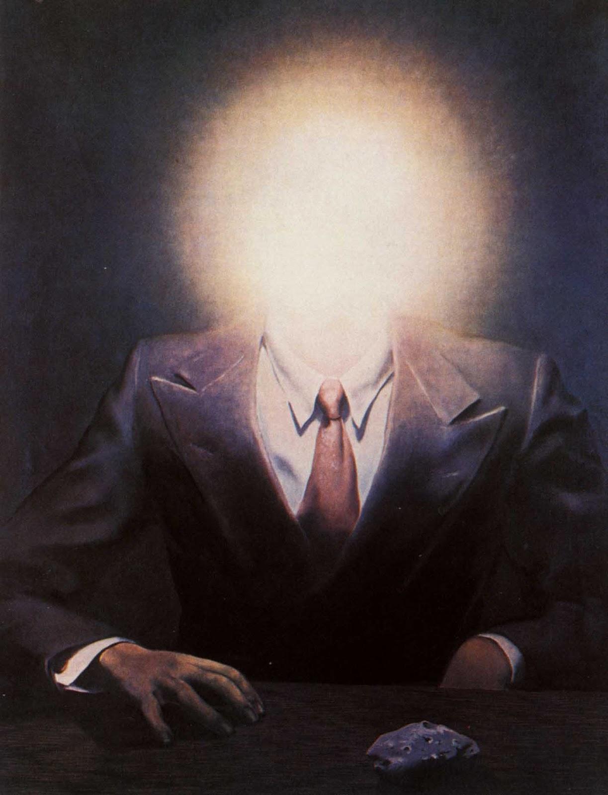 Senza dedica la riproduzione vietata di ren magritte - Magritte uomo allo specchio ...