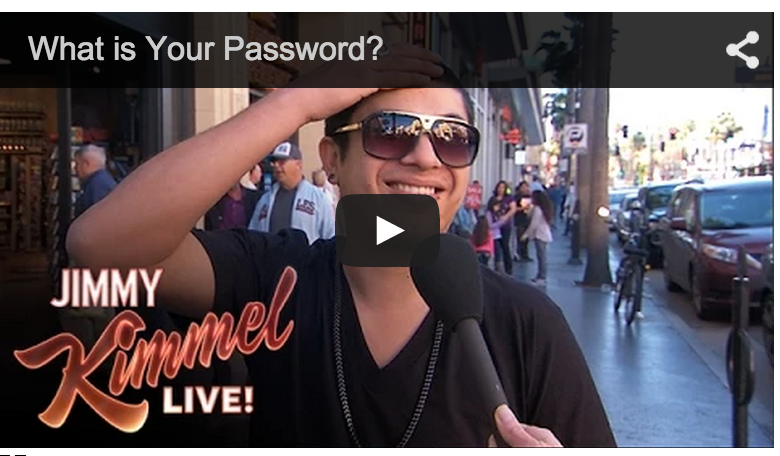 image Jimmy Kimmel Show - What is Your Password? Man being asked his password