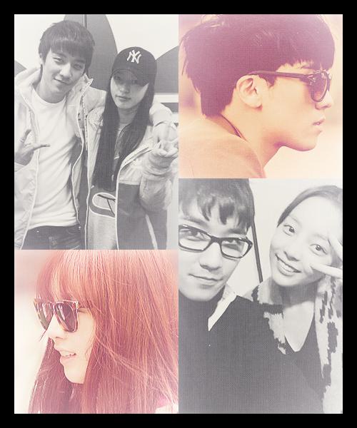 "FANART GOO HARA & SEUNGRI BIGBANG ""Friendship"""