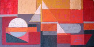 Cuadro abstracto realizado con pintura al óleo sobre madera - ImaPerezAlbert