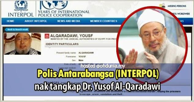 INTERPOL keluarkan waran tangkap terhadap Dr Yusuf Al-Qaradawi