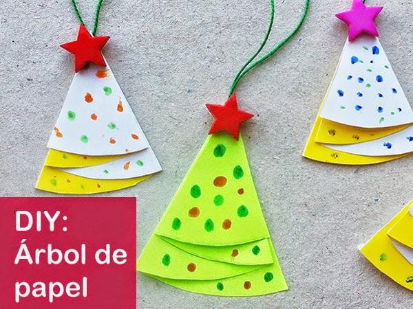 hacer un árbol de navidad de papel