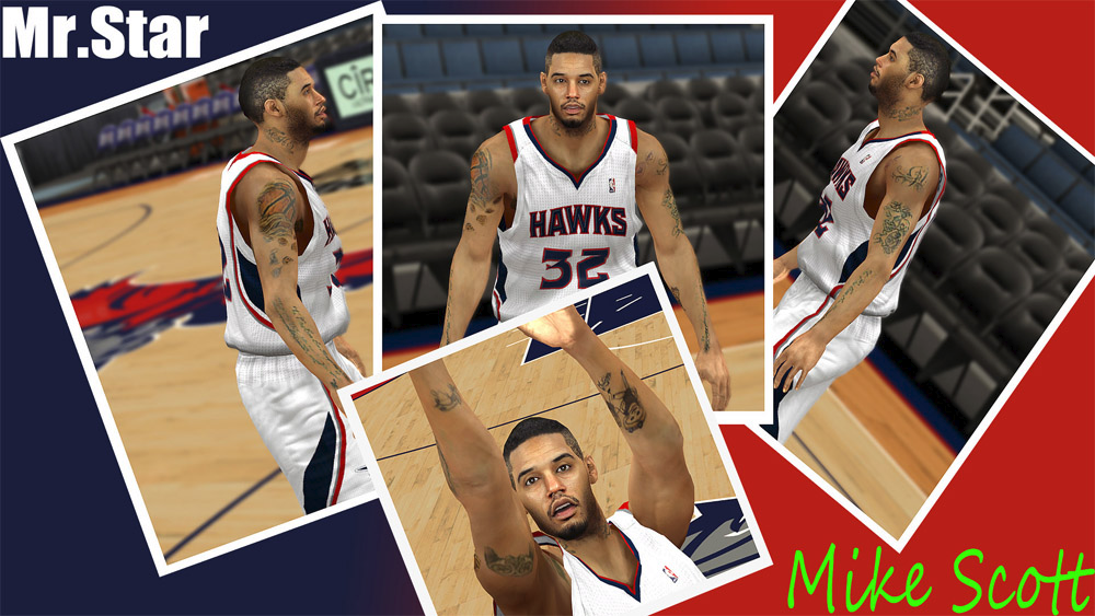 NBA 2K Mike Scott Face Patch