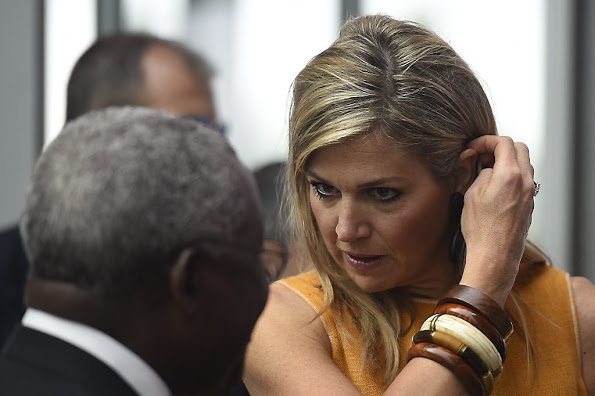 Queen Maxima Attends A Conference In Milan