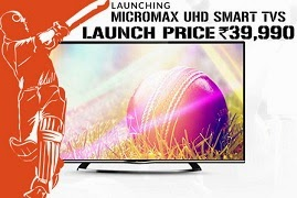 Exclusive Launch @ Flipkart: Micromax Ultra High Definition LED TV with Android O/S for Rs.39990 (42″)   Rs.49990 (49″)