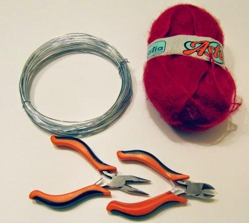 Material utilizado para DIY palabra decorativa de alambre