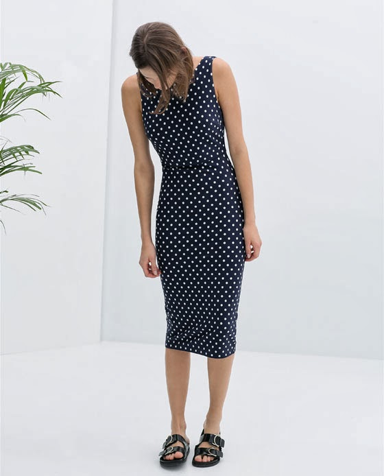 zara spotty dress