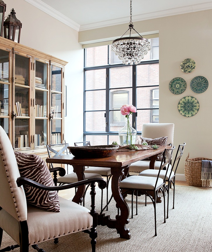 Cococozy designer jenny wolf 39 s inspiring spaces and places for Dining room no windows