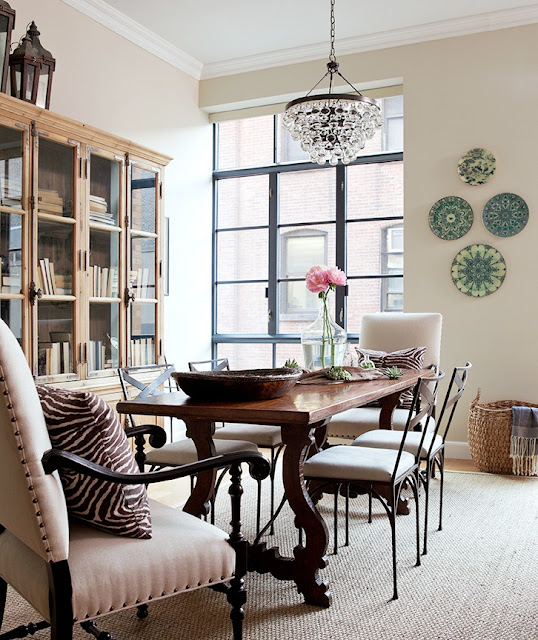 Designer jenny wolf 39 s inspiring spaces and places for Dining room no windows