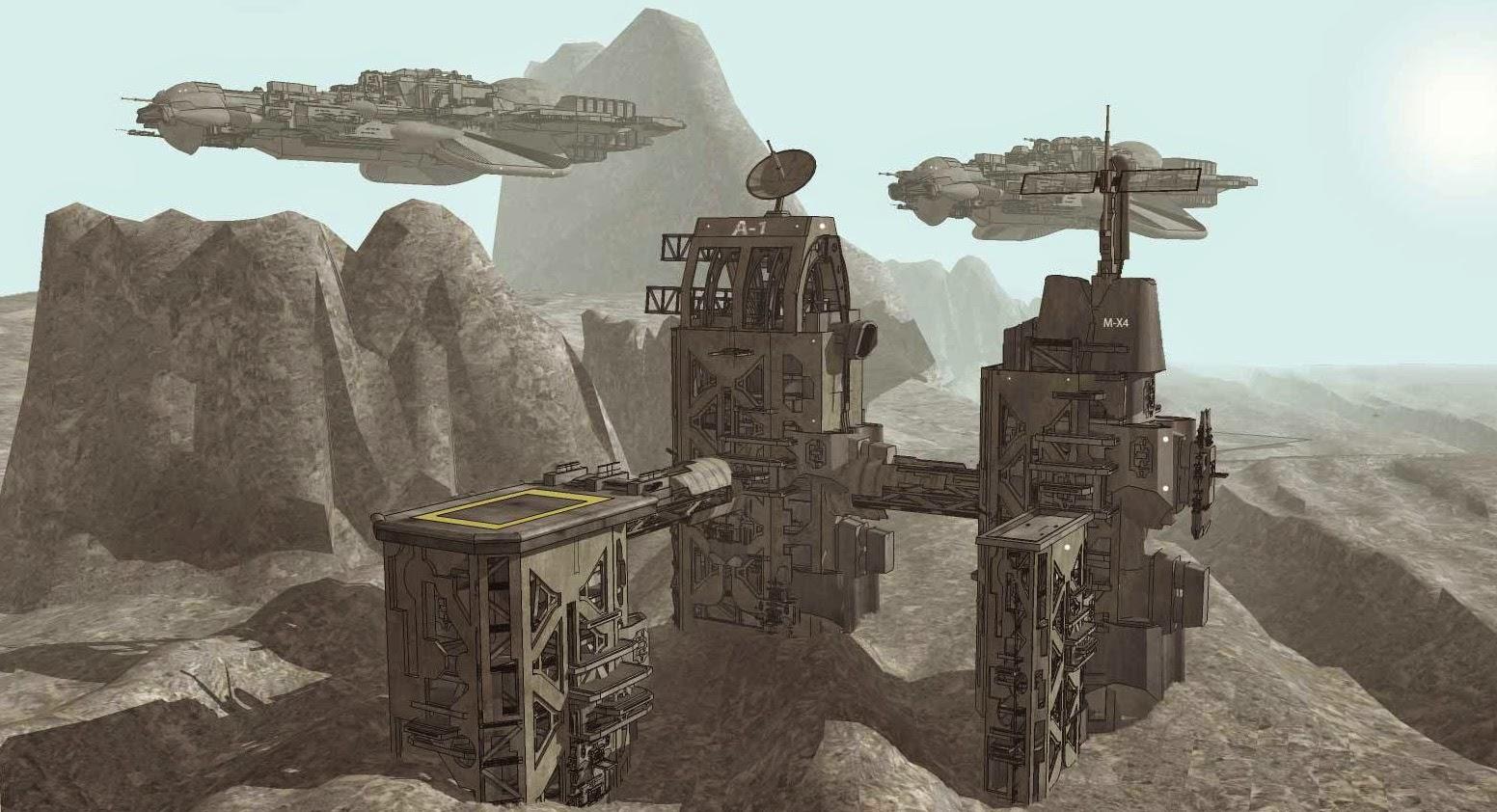 Starships arrive at colony
