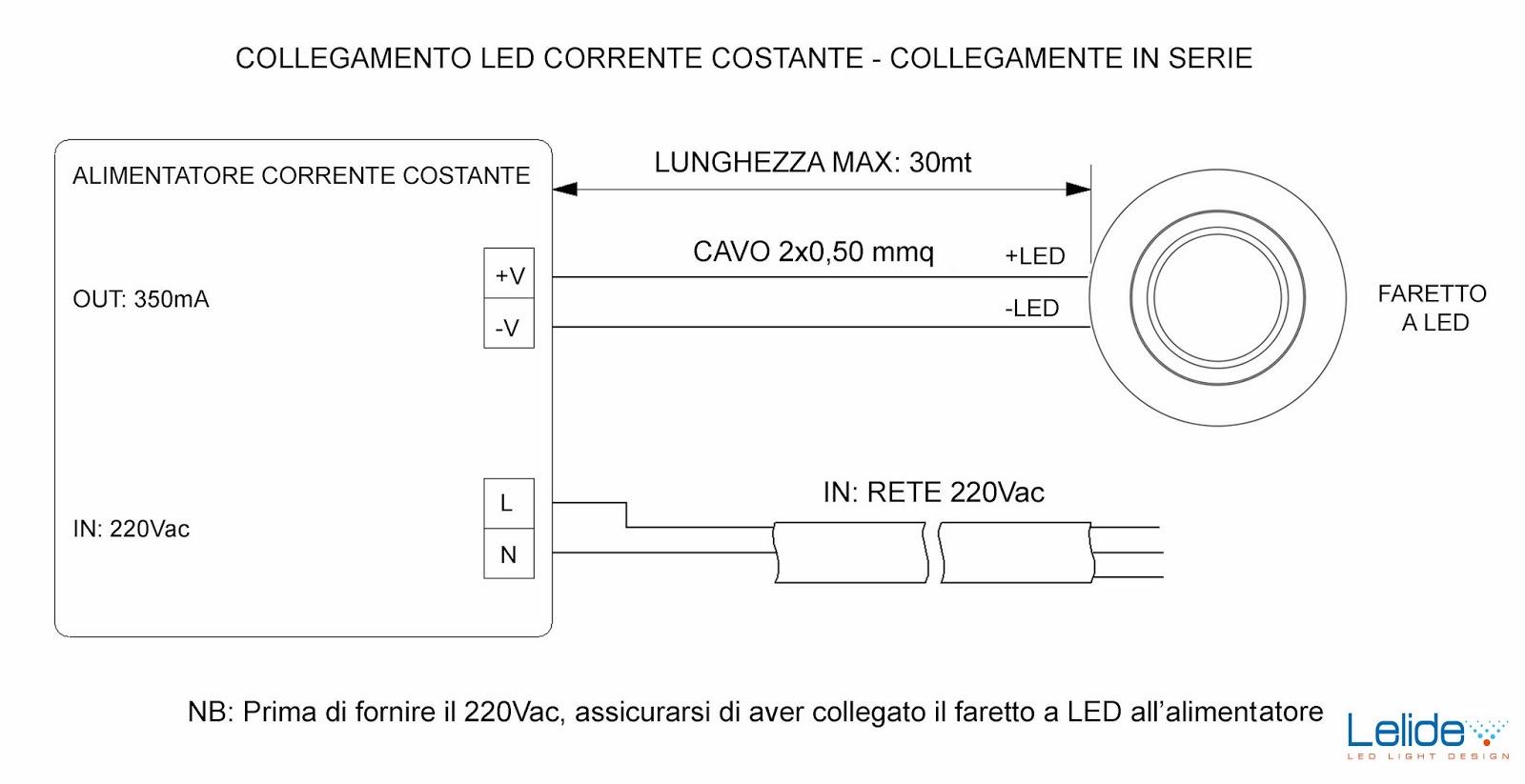 Schema Collegamento Neon In Serie : Illuminazione led casa a come collegare