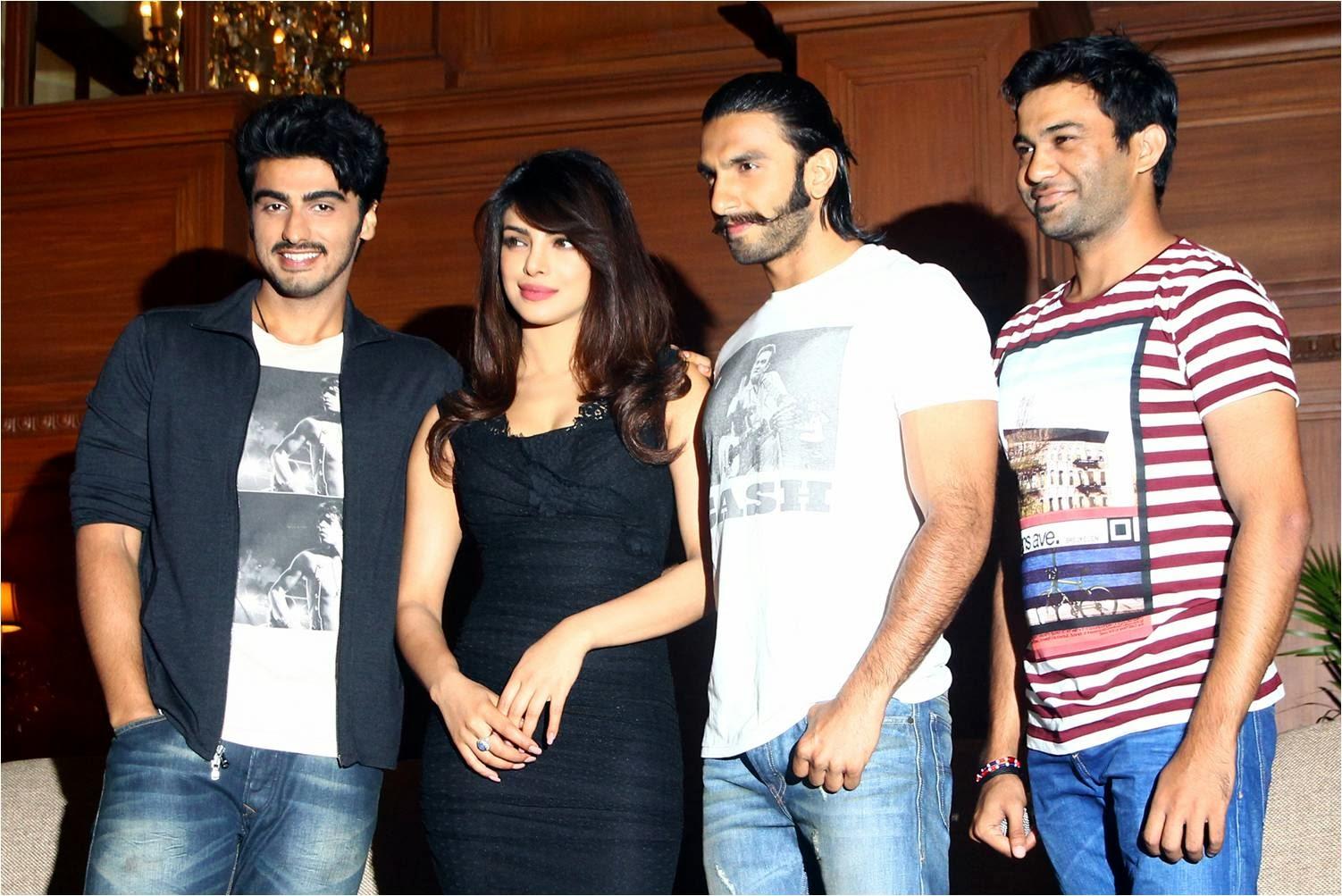 Gunday movie stars Arjun Kapoor, Priyanka Chopra and Ranveer Singh together