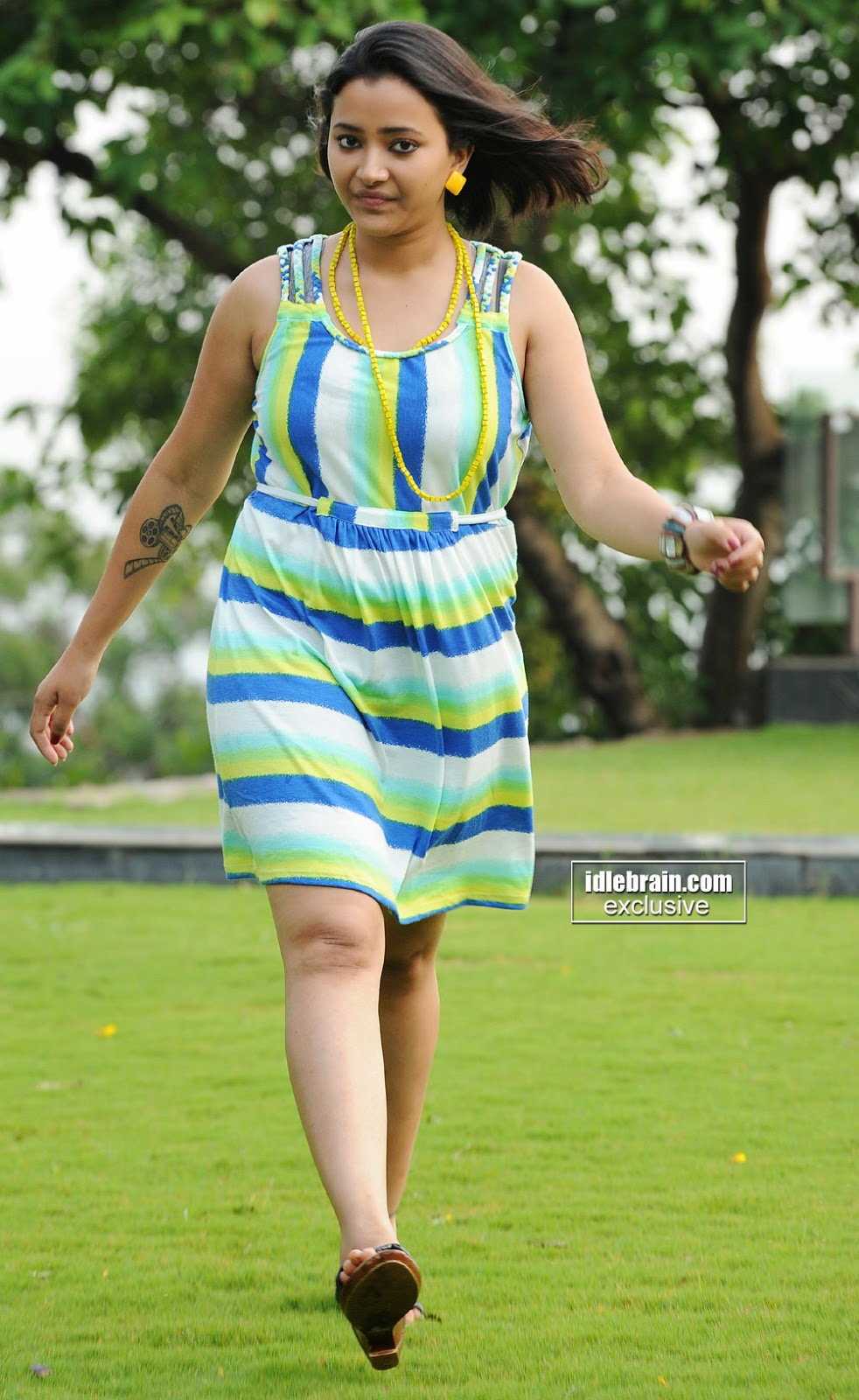 Swetha Basu short dress