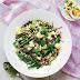 Farro, cauliflower and asparagus salad recipe