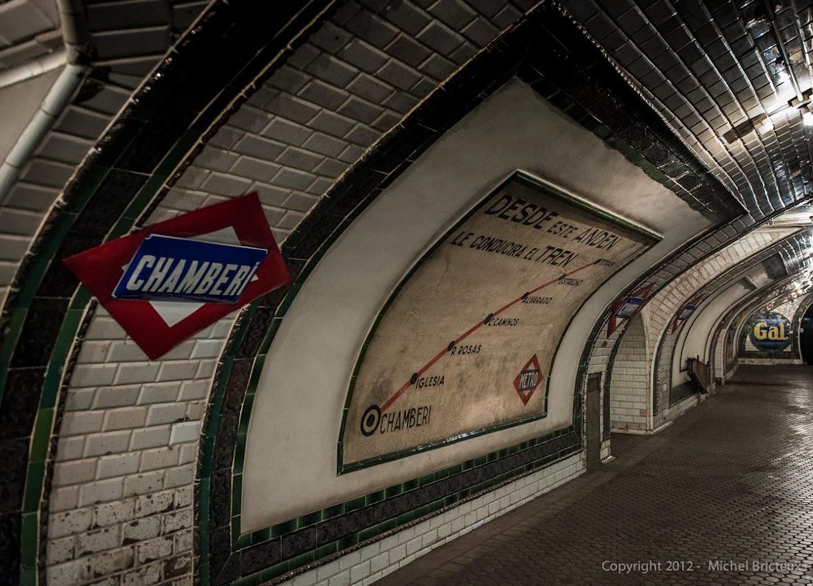 Metro de Madrid : estación fantasma de Chamberí (Linea 1)