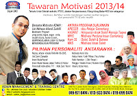 TAWARAN MOTIVASI 2013/14
