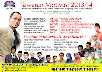 TAWARAN MOTIVASI 2013/14
