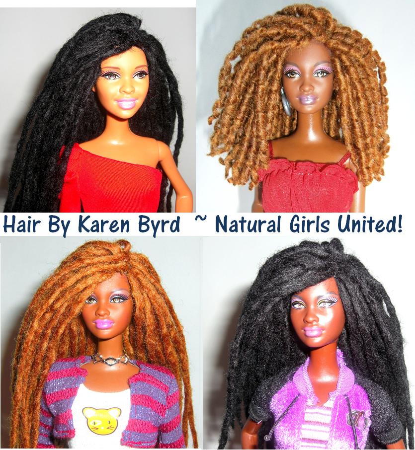 Curly & Straight Dreadlocks Doll!!   Natural Beauty Hair Styles