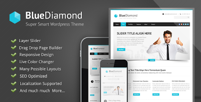 Blue Diamond Responsive Corporate Wordpress Theme