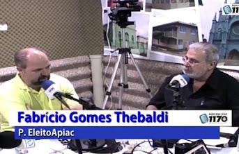 Apiacá | Vídeo: Entrevista completa com o prefeito eleito Fabrício Tebaldi na Rádio Bom Jesus AM