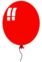 Red balloon clip art coincidence