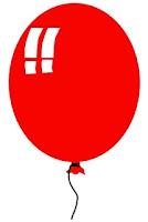 Red balloon clip art coincidence