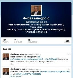 TWITTER -> @deideasanegocio