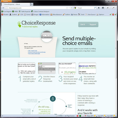 Screen shot of http://choiceresponse.com/.