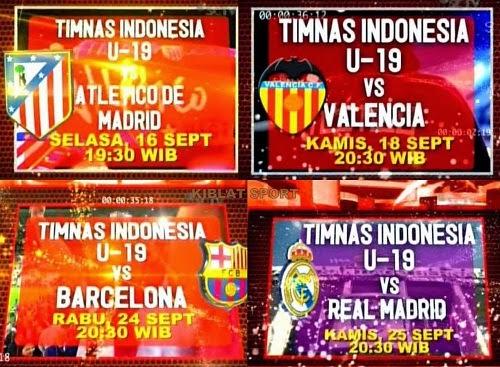 Hasil Pertandingan Timnas Indonesia U-19 Tour Spanyol