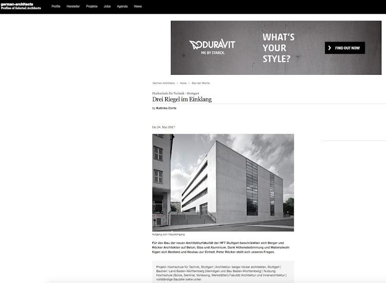 German Architects berichtet über die HFT Stuttgart