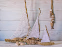 DIY Barcos con madera a la deriva y crochet / Driftwood and crochet sailboats Diy