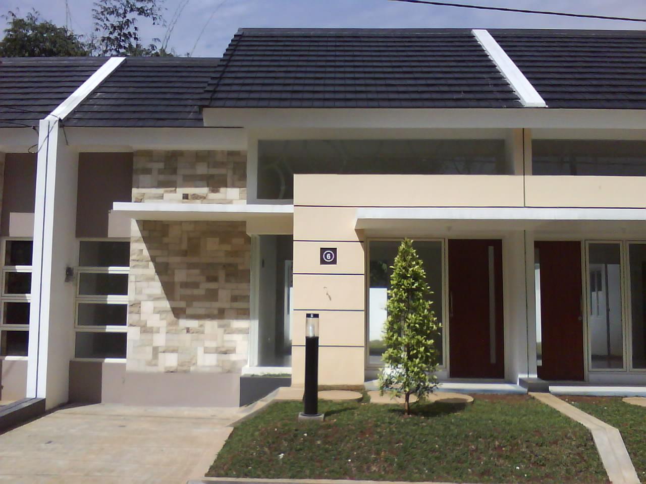 Contoh desain rumah minimalis modern berukuran kecil