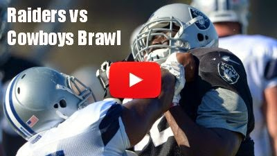 Watch how Oakland Raiders vs Dallas Cowboys Practice Match turned into a brawl via geniushowto.blogspot.com sports videos