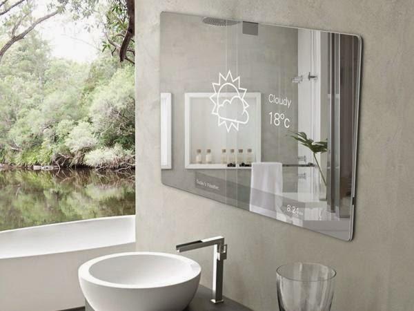 Cermin kamar mandi minimalis modern