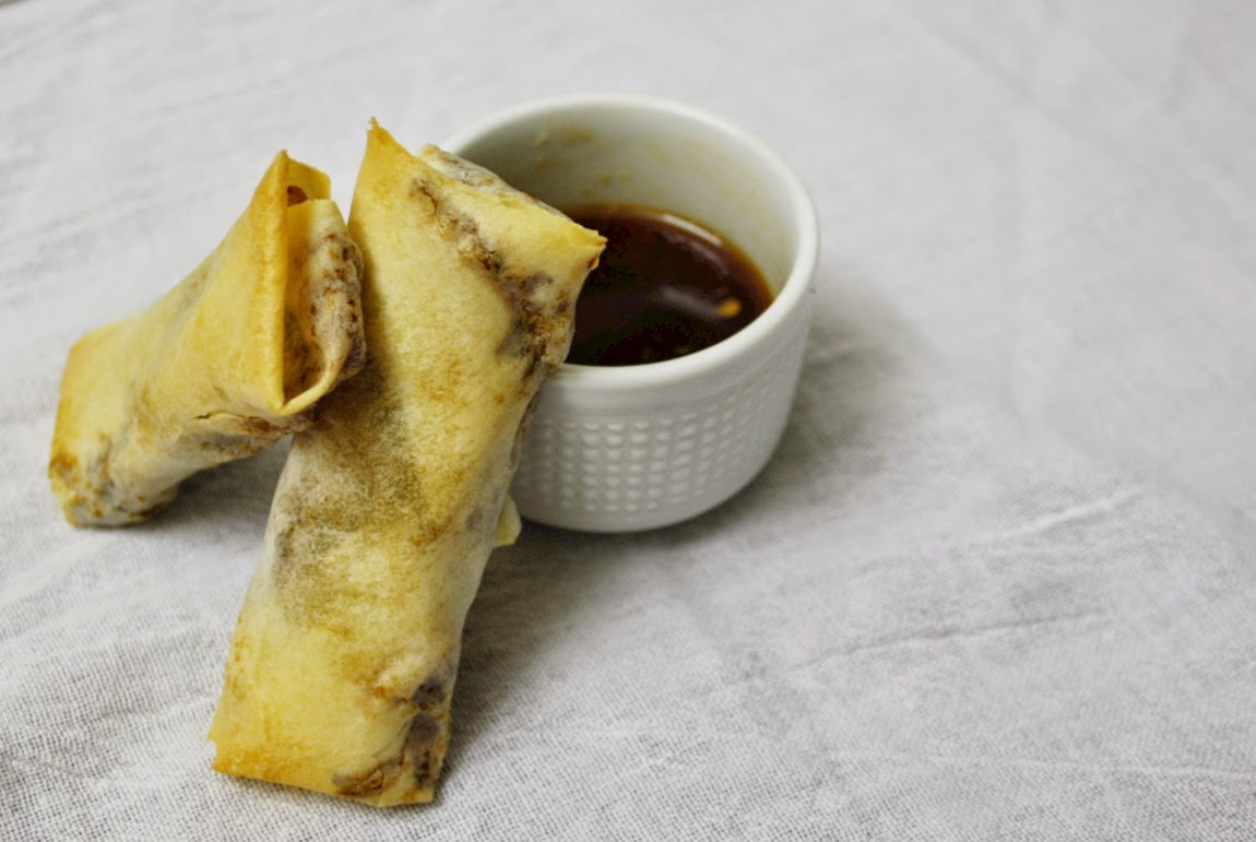 Cut out the fat in these vegetarian spring rolls - baked instead of fried!
