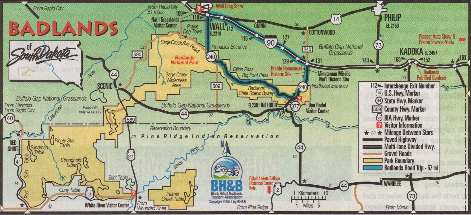 Badlands Nebraska Map.It S Fun 4 Me The Great American Road Trip Badlands National Park