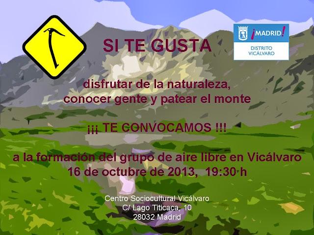Reunión para formación grupo de aire libre de Vicálvaro
