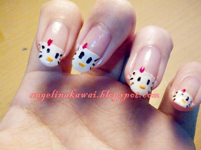 Angelkawais Diary Nail Art Hello Kitty