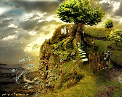 Дерево-дом (сюрреализм в стиле Сальвадора Дали)
