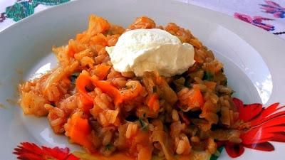Лаханоризо рис с капустой по-гречески - Ресторан дома