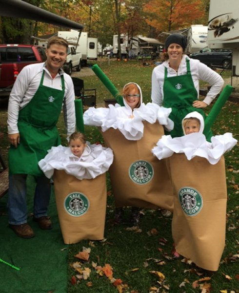 Starbucks coffee costumes
