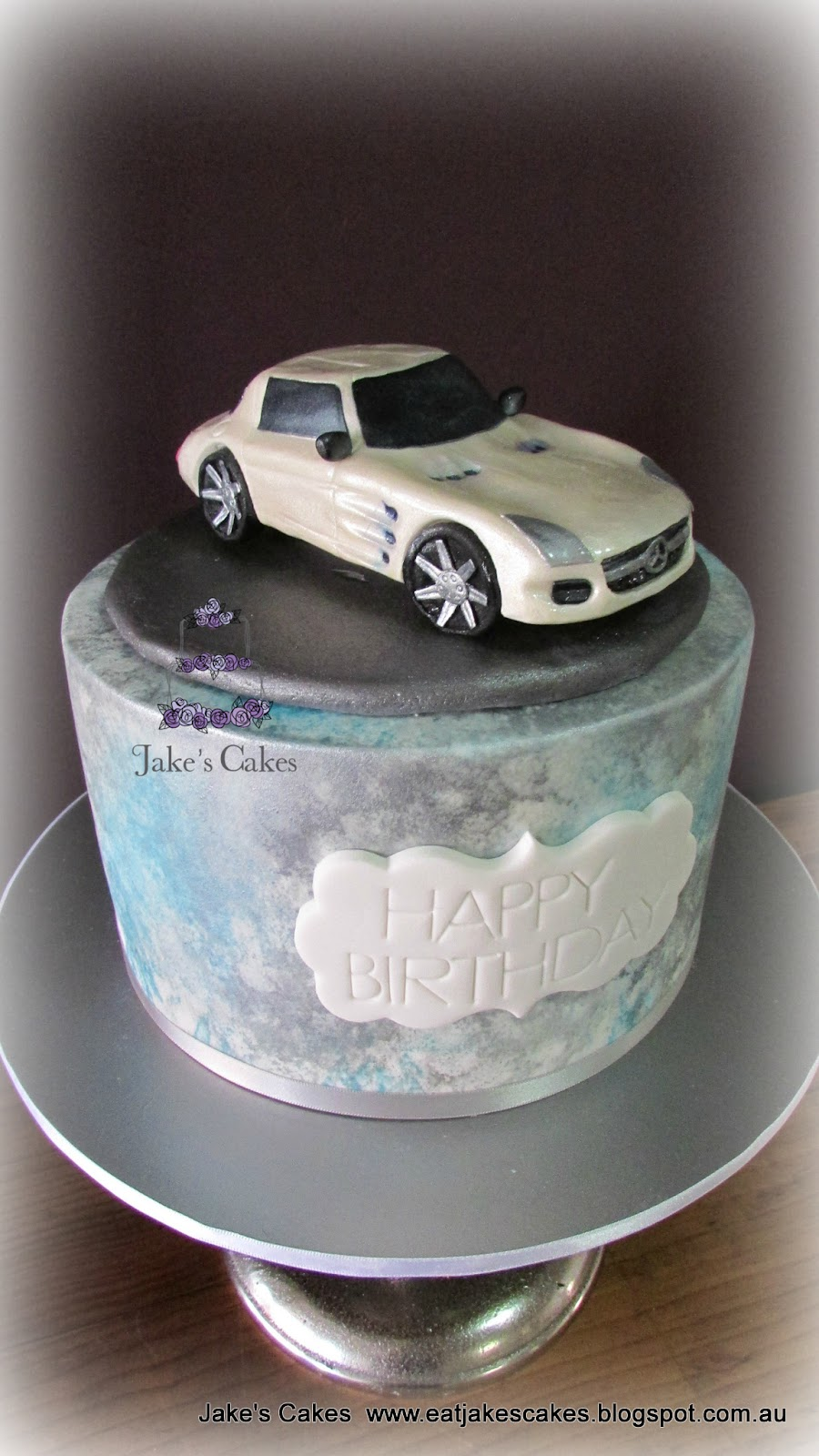 Jake 39 s cakes mercedes benz sls amg gt car cake for Mercedes benz birthday cake