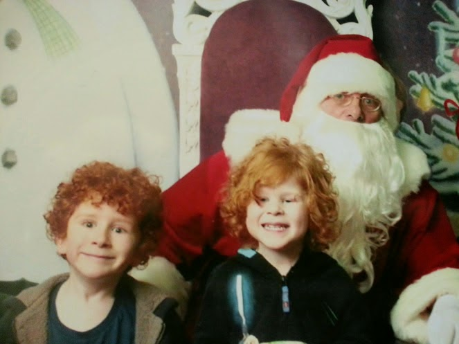 Close up of hilarious Santa photo