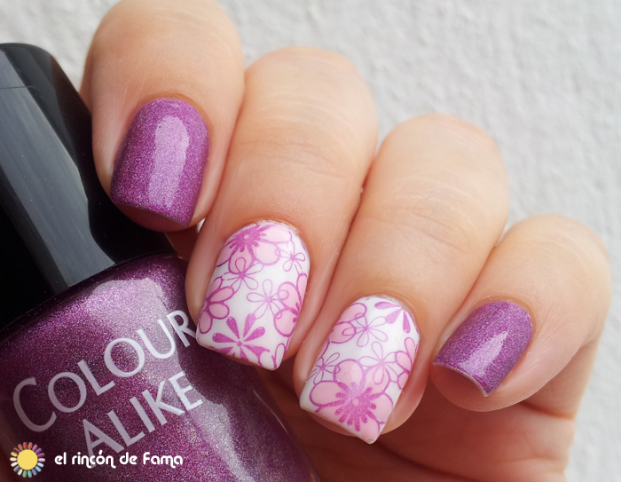 Pink flower nail art | el rincon de fama