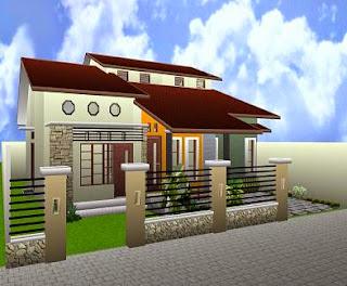 Contoh Desain Rumah Minimalis 8